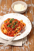 Tagliatelle all Amatriciana