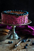 A chocolate & blueberry mousse cake