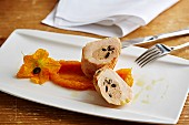 Stuffed chicken breast with pumpkin