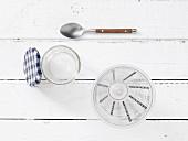 Kitchen utensils for making a shake