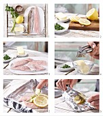 How to prepare trout parcels with herb & garlic butter