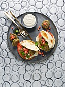 Lentil falafel with pitta bread (Israel)