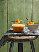 Pepper soup with orange and lime