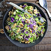 Cabbage salad with walnuts