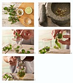 How to prepare cardamon and mint tea