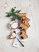 Homemade Ricotta with Christmas spice bread