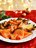 Christmas Tree Smoked Salmon