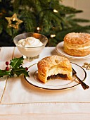 Cream Filled Puff Pastry Mince Pie