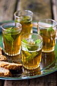 Peppermint tea in glasses (Morocco)