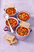 Chickpeas and sausage gulash