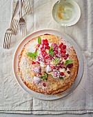 Coconut cake with summer berries