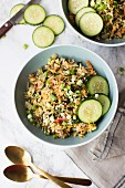 Poha with eggs and vegetables