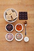 Ingredients for quick chocolate cake pops