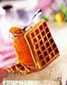 Waffle and clementine jam