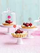Raspberry and chocolate chip mini pies