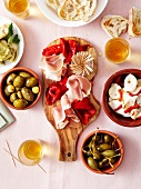 Assortment of antipastis
