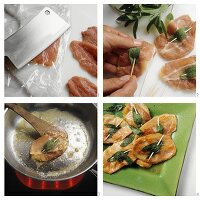 Making Saltimbocca alla romana