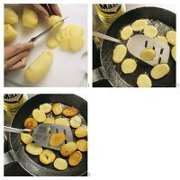 Making fried potatoes