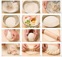 Making calzone