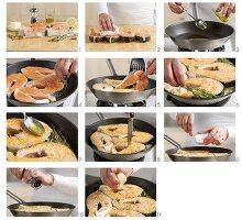 Gebratene Lachssteaks zubereiten