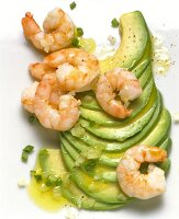 Avocado Fan with Shrimp