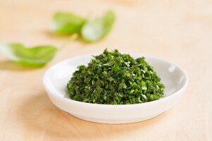 Finely chopped basil