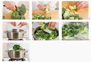 Blanching broccoli
