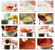 Sauce Napoli zubereiten