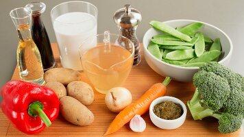 Zutaten für Gemüsecurry