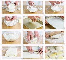 Buttermilch-Biscuits herstellen