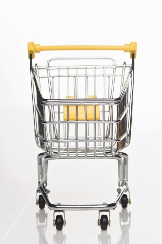 A supermarket shopping trolley