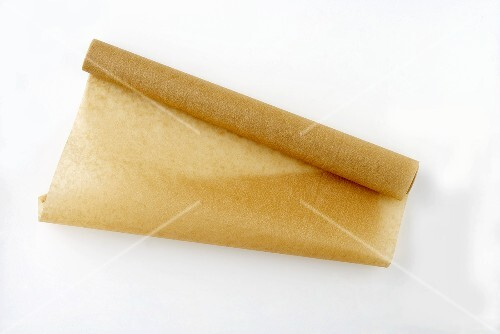 A roll of baking paper