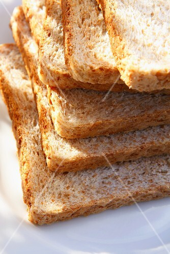 A stack of wholemeal toast