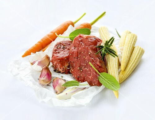 Argentinian beef with fresh vegetables