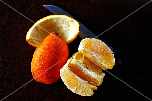 Peeled mandarin orange