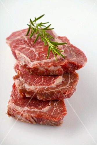Beef with rosemary