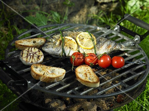 Bream on the barbeque