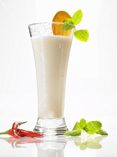 Honey and buttermilk drink with chilli