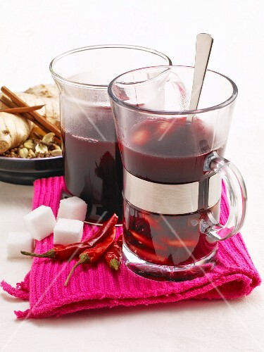 Swedish glogg with chilli peppers