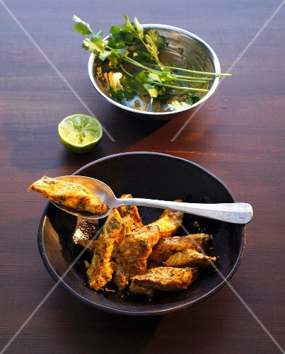 Tandoori fish tikka with coriander (India)