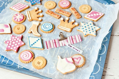 Elaborately decorated biscuits as a gift
