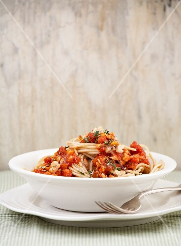 Pasta with chicken bolognese