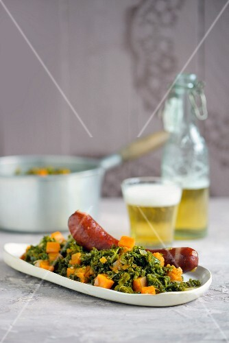 Green kale with sausage (Northern Germany)