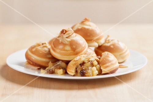 Aebleskiver (apple-filled Danish pastries)