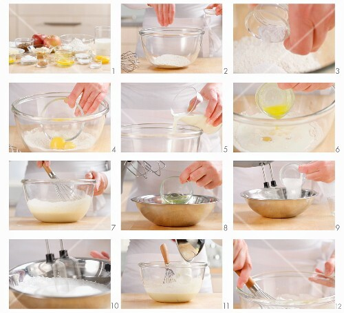 Pancake mixture being made