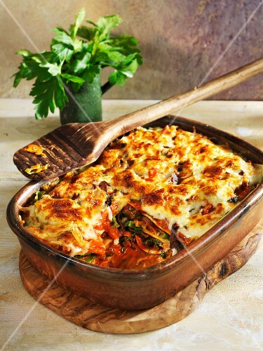 Green cabbage lasagne