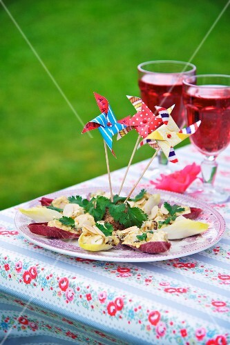 Chicken salad with chicory for a Jubilee party (England)