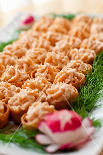Tuna mousse canapes buy images stockfood for Dictionary canape