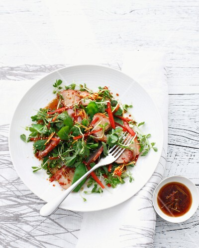 Bowl of Chinese pork salad