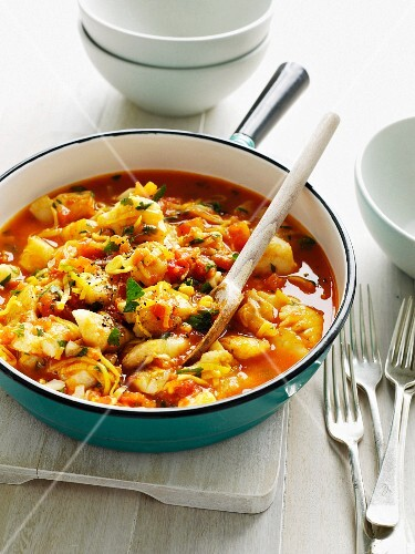 Fish and vegetable stew